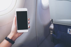 Mofa para arriba del teléfono elegante Imagen de archivo
