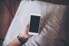 Mofa para arriba del teléfono elegante Fotos de archivo libres de regalías