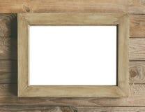Mofa rústica del marco de madera para arriba foto de archivo libre de regalías