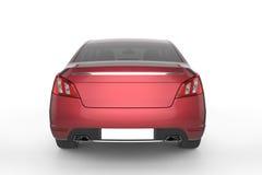 Mofa roja del coche para arriba en el fondo blanco, ejemplo 3D ilustración del vector