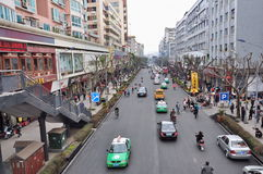 Mofan Street,Nanchong,China Stock Photography