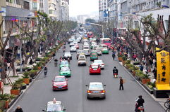 Mofan Street,Nanchong,China Stock Photo