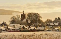 Moffat, Scozia, a natale Fotografie Stock