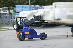 Moffett. Telemount forklift in operation loading a truck Stock Images