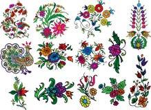 Mofifs decorativos do flourish Foto de Stock Royalty Free