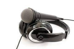 Hełmofon i mikrofon Obraz Stock