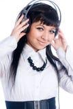 hełmofon kobieta Obrazy Stock