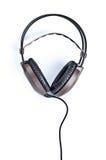 hełmofonu biel odosobniony stereo Obraz Stock