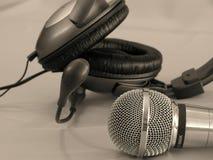 hełmofonu mikrofonu Zdjęcia Royalty Free