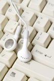Hełmofony i klawiatura Obrazy Stock