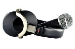 Hełmofony i mikrofon Obraz Royalty Free