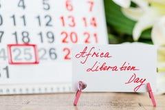 25 mogą Afryka wyzwolenia dzień na kalendarzu zdjęcie royalty free