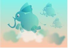 mogą latać słoni Obrazy Stock