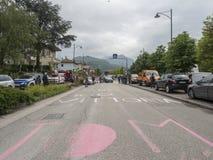 2018 mogą 22, roweru Włochy wycieczka turysyczna wymieniali Giro d ` Italia Zdjęcie Royalty Free