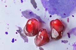 mogą się blisko cholesterolu nasion granatowa jeden strzał superfoods niższe makro zdjęcie royalty free