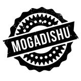 Mogadishu stamp rubber grunge. Mogadishu stamp. Grunge design with dust scratches. Effects can be easily removed for a clean, crisp look. Color is easily changed Royalty Free Stock Photography