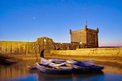 Mogador Festungsgebäude bei Essaouira, Marokko Stockfotografie