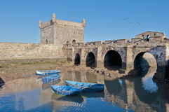 Mogador fortress building at Essaouira, Morocco Royalty Free Stock Image