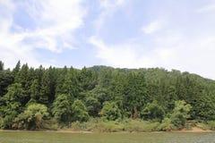 Mogamirivier en Mogami-kloof stock afbeeldingen