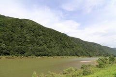 Mogamirivier en Mogami-kloof stock foto