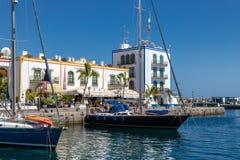 mogan Canaria puerto De Gran Obrazy Stock