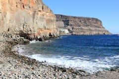 Mogan, Gran Canaria. Mogan Beach stone section in Puerto Mogan, Gran Canaria royalty free stock images