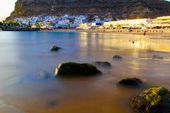 Mogan Strandansicht Puerto Des stockbild