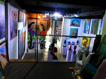 Moganshan Road Art Space in Shanghai, China. Art, atelier and inspiration. Colours and creativity, paintings and sculptures, imagination and creation, beauty stock photos