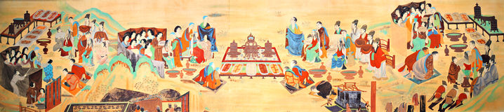 Mogao Cave 445 wall paintings of the Tang Dynasty tonsure Royalty Free Stock Photography
