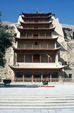 Mogao Caves,China. Entrance to the Mogao Caves in Gansu Province,China Royalty Free Stock Images