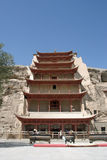 Mogao caves in Dunhuang. China Royalty Free Stock Photos