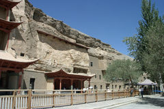 Mogao caves in Dunhuang Royalty Free Stock Images