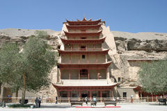 Mogao caves in Dunhuang royalty free stock photos