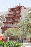 Mogao Caves in Dunhuang, China. This photo is taken in Dunhuang, China, The Mogao Caves Chinese: 莫高窟; pinyin: Mògāo kū; Wade–Giles: Mo4-kao1 k`u1 Royalty Free Stock Image