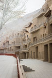 Mogao Caves, grottoes in Gansu, China. stock photo