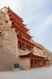 Mogao Caves, grottoes in Gansu, China. Mogao Caves, largest grottoes in Gansu, China Stock Photos