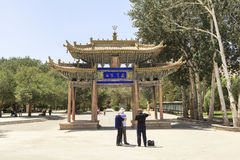 Mogao frana Dunhuang, Cina Fotografia Stock Libera da Diritti