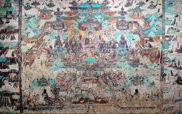 Mogao Grottoes murals Stock Photo