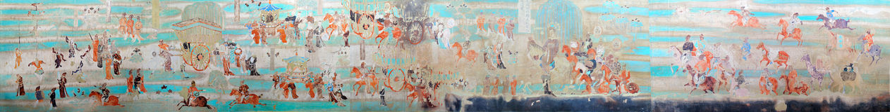 Mogao Grottoes murals Stock Photos