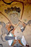 Mogao grottor i Dunhuang, Kina royaltyfri bild