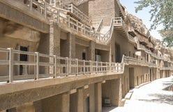 Mogao grottor i Dunhuang, Kina Royaltyfri Foto