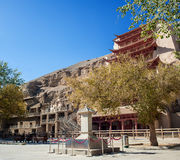 Mogao groty, Dunhuang, Gansu Chiny obraz royalty free