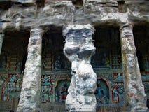 Mogao-Höhlen in China Stockbild