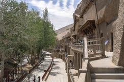 Mogao-Höhlen in Dunhuang, China lizenzfreie stockfotografie