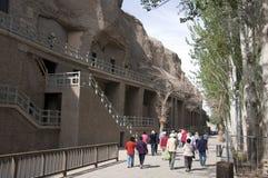 mogao jaskiniowe wycieczki turysyczne Fotografia Stock