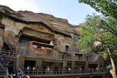 mogao jaskiniowe wycieczki turysyczne Obrazy Royalty Free