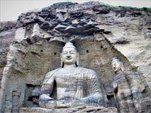 Mogao Zawala się w Dunhuang, Porcelanowego i Dużego Buddha, zdjęcie royalty free