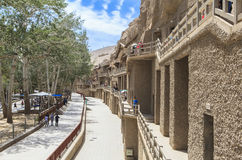 Mogaoholen in Dunhuang, China Stock Afbeelding