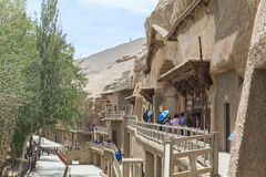 Mogaoholen in Dunhuang, China Royalty-vrije Stock Afbeelding