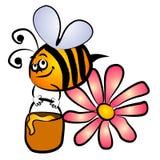 Mogeln Sie Bienen-Honig-Klipp-Kunst durch Lizenzfreie Stockfotos